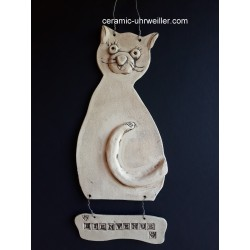 "Door decor ""Bienvenue"" cat"